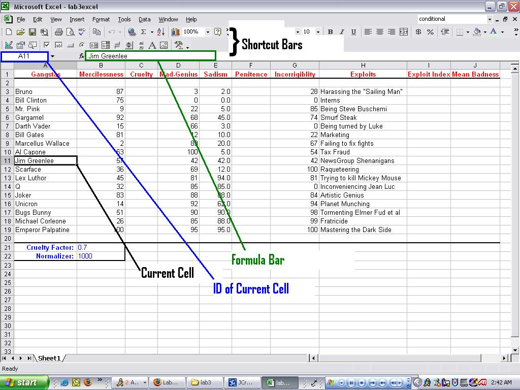 excel cs 1371 lab 3 what is microsoft excel?